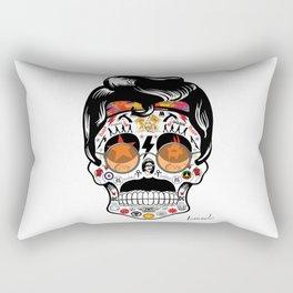 SKULL ROCK / Famous Musical Groups - Symbols - Digital Illustration Art - Pop Art - Wall Decor Rectangular Pillow