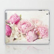 Peonies on white Laptop & iPad Skin