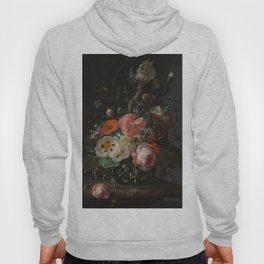 Rachel Ruysch - Still life with flowers on a marble tabletop (1716) Hoody