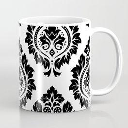 Decorative Damask Art I Black on White Coffee Mug