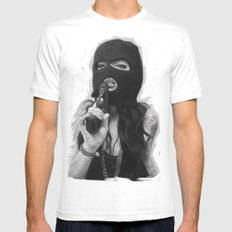 Kiss the Girl White Mens Fitted Tee MEDIUM