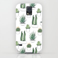 watercolour cacti and succulent Slim Case Galaxy S5