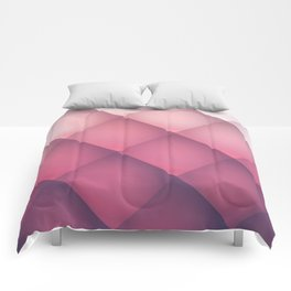 Claret, Pink and White Mosaic Background Comforters