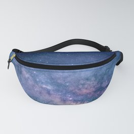 Purple Glitter Galaxy Fanny Pack