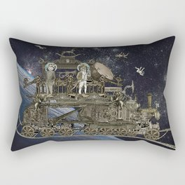 Oriental Steampunk Space Expess Rectangular Pillow