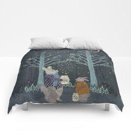 catching fireflies Comforters