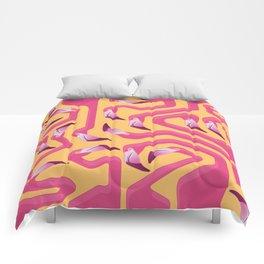 Flamingo Maze Comforters