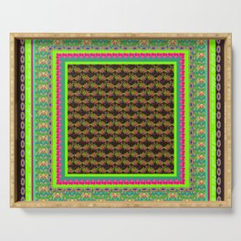 Greatest love - brown/green/blue Serving Tray
