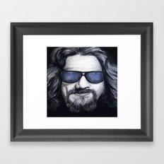 The Dude Lebowski Framed Art Print