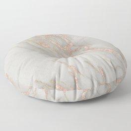 Marble - Rose Gold Marble Metallic Blush Pink Floor Pillow