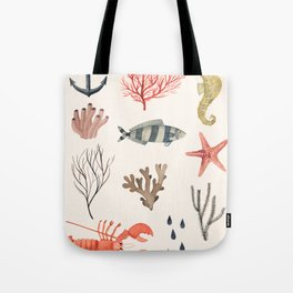 Sealife Schoolchart Tote Bag