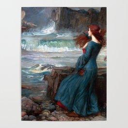 John William Waterhouse Miranda Poster