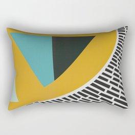 Mustard Citrus Abstract Rectangular Pillow
