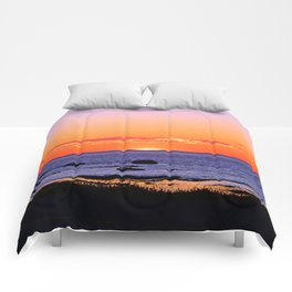 Stunning Seaside Sunset Comforters