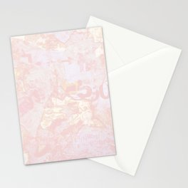 Pink Texture Print Stationery Cards
