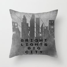 Bright Lights Big City Throw Pillow