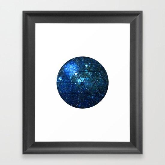 Star Geodesic Framed Art Print
