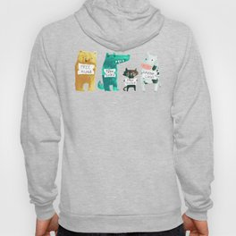 Animal idioms - its a free world Hoody