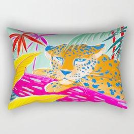 Vibrant Jungle Rectangular Pillow