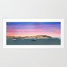 SUNSET ON INSTOW Art Print