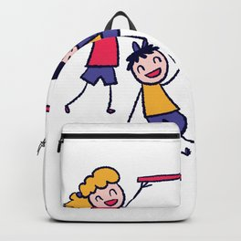 Children have fun and play Backpack