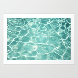 Water Abstract Photography, Teal Ocean, Turquoise Sea, Water Ripple Seascape Art Print