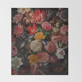 Vintage & Shabby Chic - Dutch Midnight Garden I Throw Blanket