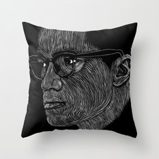 Malcom X Throw Pillow