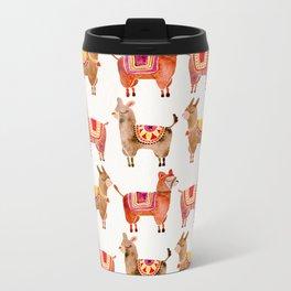 Alpacas Metal Travel Mug