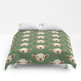 Sweet Lamb in the Barnyard Comforters