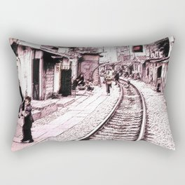 The train is coming soon.... Rectangular Pillow
