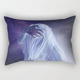 Galaxy girl portrait Rectangular Pillow