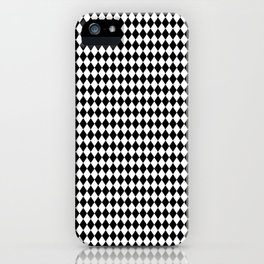 mini Black and White Mini Diamond Check Board Pattern iPhone Case
