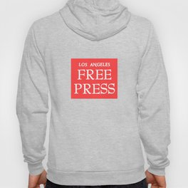 LA FreeP Logo - White on Red Hoody