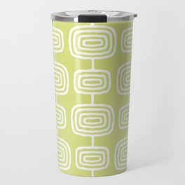 Mid Century Modern Atomic Rings Pattern 731 Chartreuse Travel Mug