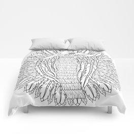Art Nouveau Angel Mandala - Color Your Own Comforters