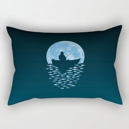 Hooked by Moonlight Rectangular Pillow