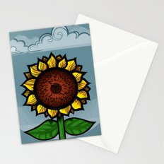 kitschy sunflower Stationery Cards