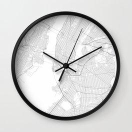 New York, United States Minimalist Map Wall Clock