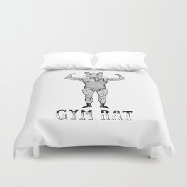 Strongman Bodybuilder Gym Rat Duvet Cover