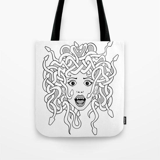 foolish medusa (b&w) Tote Bag
