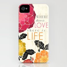Where there is Love there is Life Slim Case iPhone (4, 4s)
