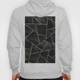 Dark Black Ink Gold Geometric Glam #1 #geo #decor #art #society6 Hoody