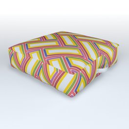 PINBALL channels and bright lights create retro vibe Outdoor Floor Cushion