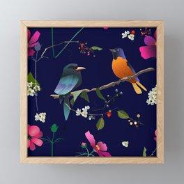 Birds, Berries and Flowers Framed Mini Art Print