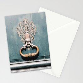 Paris Door Knocker - Bluegreen Stationery Cards
