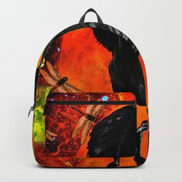 HORSE MOON AND DRAGONFLY VISIONS Backpack