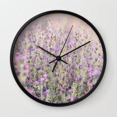 Purple flowers Wall Clock