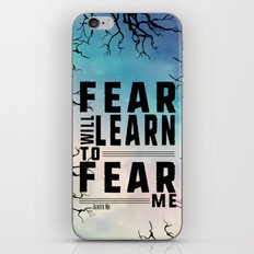 Shatter Me - Fear iPhone & iPod Skin