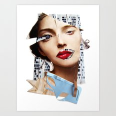 Make me beautiful | Collage Art Print
